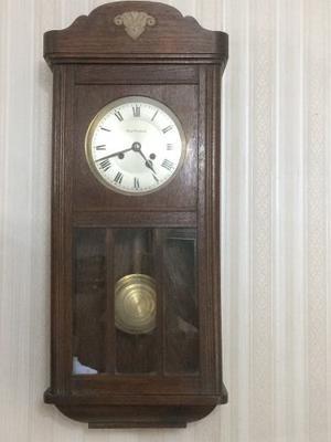 Reloj De Pared Pendulo Aleman Antigua Casa Escasany Funciona