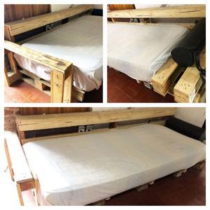 Sillon l hecho con palets posot class for Sillon cama dos cuerpos