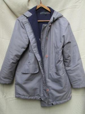 Campera con abrigo de polar y capucha Talle L