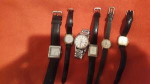 Lote de 6 relojes pulsera