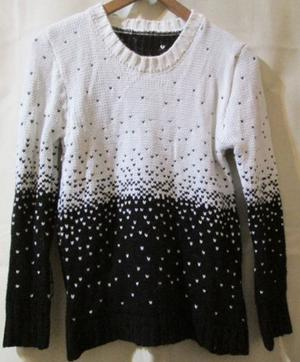 Pullover blanco y negro talle M