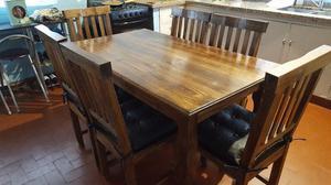 Vendo juego de mesa y 6 sillas