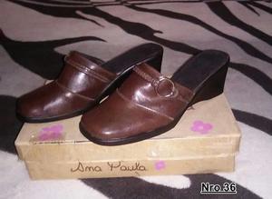 Vendo zapato usado color marrón nro.36
