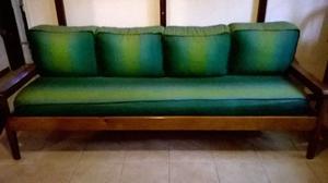Diván cama más colchón de gomapluma denso con cubrecama y