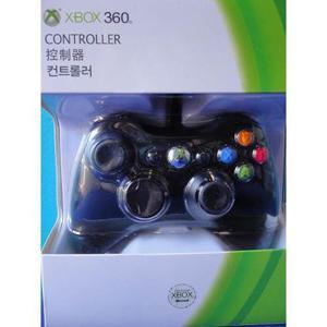 Joystick Xbox 360 Negro Con Cable