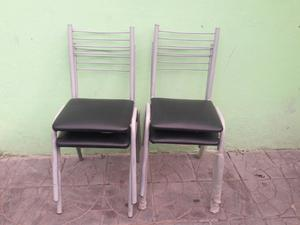 Vendo 4 sillas y mesa