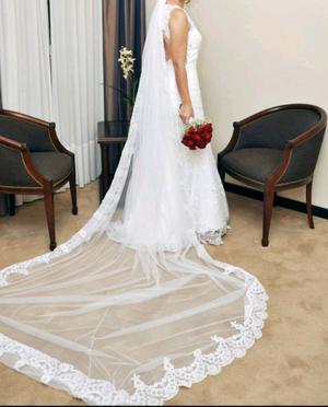 Alquilo vestido de novia estilo sirena