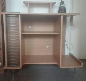 Escritorio para PC con portacd, estante CPU y estantes