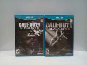 Juegos Nintendo Wii U CoD Ghosts CoD Black Ops II call of