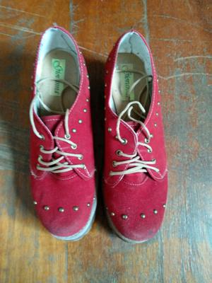 Zapatos Mujer Rojos Talle 37