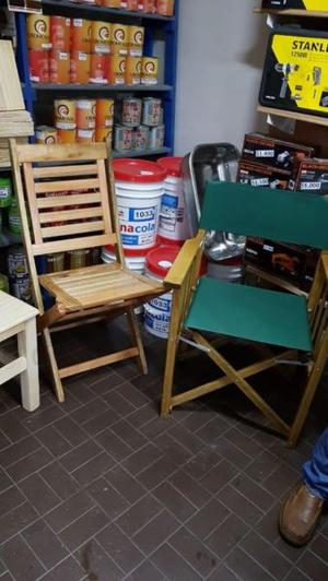 sillas de jardin, quincho, sillon director y mesas para bar
