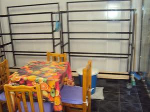 vendo 3 estanterias de verduleria reforzadas con ruedas