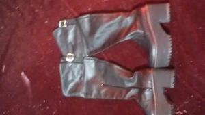 Botas bucaneras t. 38 negras cuero