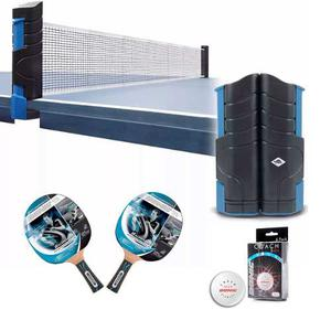 e557f475c Kit ping pong donic 2 paletas 700 + red flex net + 6 pelotas