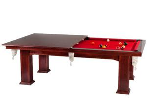 Mesa De Pool Bisonte Malibu Con Tapa Reversible Ping Pong