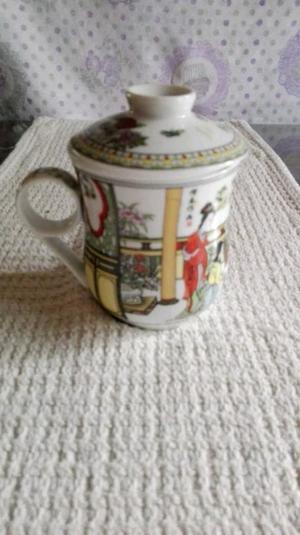 Taza De Porcelana China Con Difusor