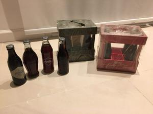 2 Cajones De Coca Cola Con 6 Botellas De Colección
