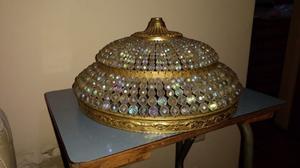 Lámpara cristal de roca y bronce