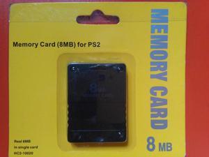 Memory Card De 8 Mb Para Ps2 Nuevas En Blister