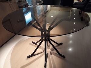 Mesa de vidrio para comedor redonda 120 m | Posot Class