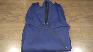Buzo XXL con capucha y bolsillos Azul