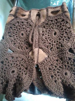 Pollera de lana tejida