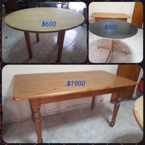 Vendo mesa de cedro y otras