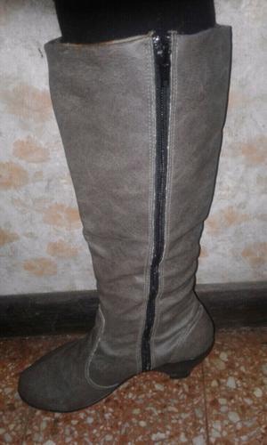botas abrigadas grises