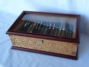 Caja Para Coleccion De Lapiceras En Madera Maciza