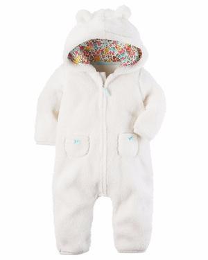 Jumpsuit - Enterito - Osito Carters - Micropolar - Bebé -6m