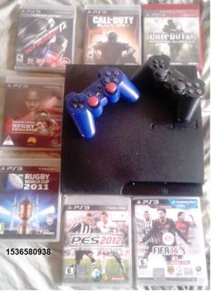 Ps3 Con Juegos En Cd Y Digitales - 2 Joystick