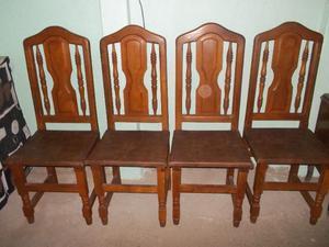 vdo cuatro sillas de algarrobo nuevas