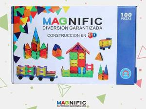 Imanes Bloques Magnéticos 100 Piezas Magnific Ruedas