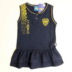Vestido Boca Juniors Bebe Licencia Oficial Camiseta Nena