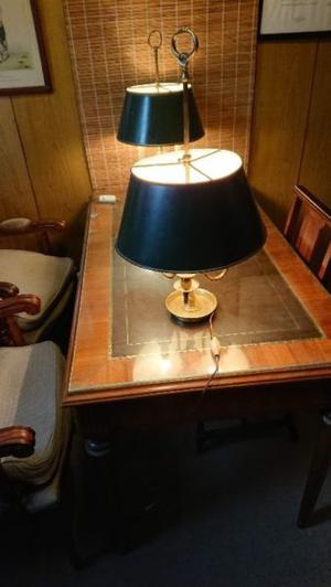 2 Lámpara De Escritorio Estilo Inglés Antiguo