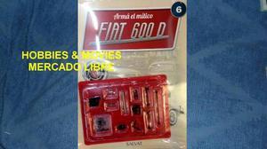 Entrega Numero 6 Fiat 600 D Para Armar Salvat Escala 1:8