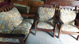 Hermoso juego de sillones de algarrobo