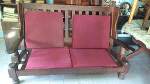 Líquido antiguo sillón de algarrobo de 3 cuerpos