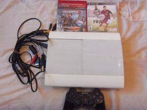 PS3, Play 3, 1 joystick, 2 juegos, 250 gigas, cables,