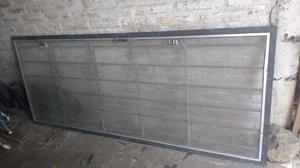 Puerta/reja de hierro con mosquitero 2m x 0,80m