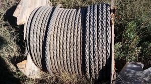 Vendo rollo cable de acero 2 pulgadas