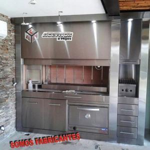 Parrillas De Acero Inoxidable Con Cajones / Puertas