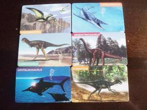 Seis Tarjetas Telefonicas Viejas Dinosaurios De Argentina