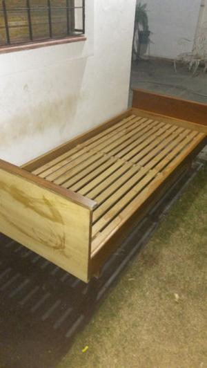 cama 1 plaza madera