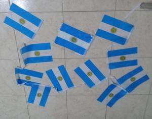 BANDERA ARGENTINA 21 X 14 CMS X 10 UNIDADES