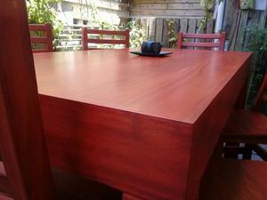 Combo, Mesa asia, 6 sillas hindu, almohadones, y mesa ratona