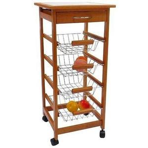 Mueble Frutero Rack Organizador Frutas Y Verduras Con Ruedas