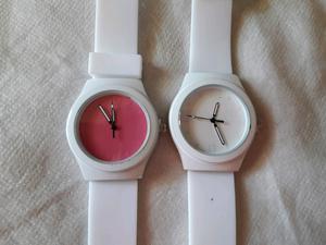 Reloj todo blanco malla silicona