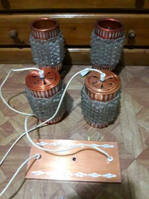 Veladores y lampara retro vintage