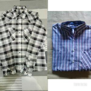 Camisa A Rayas Verticales Y Camisa Escosesa Hombre Usadas